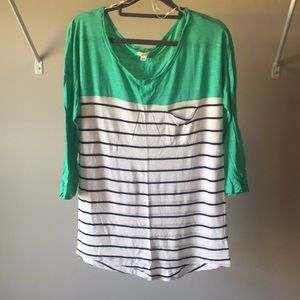 Aerie Color Block Baseball T